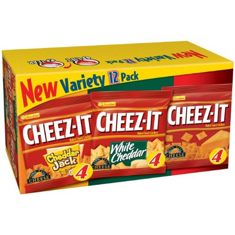 Cheez-It Crackers, Variety Snack (1.25-Ounce), 12-Count