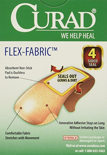 Curad   Cur47315 Old Flex Fabric,  3/4 Inches X 3 Inches Bandages, 30 Count  (Pack Of 4)
