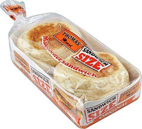 Thomas' Sandwich Size English Muffins - 2 Packs
