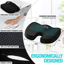 Image of Seat Cushion Back Support Set   Lumbar Support Memory Foam With Orthopedic Design   Sciatica Pain Re