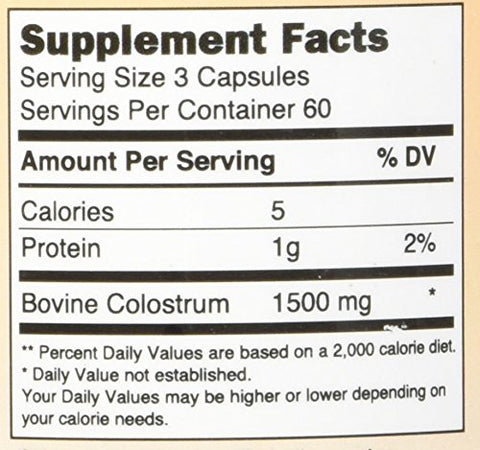 Immune Tree Colostrum6 Capsules 1500 Mg, 180 Count