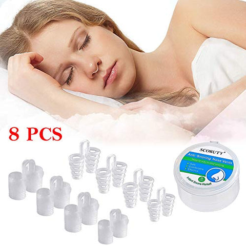 Stop Snoring Solution, Snore Reducing Aids, Stop Snoring Nose Vents, Snoring Solution Stop Snore Device, Set of 8 Nasal Dilators, Snore Stopper