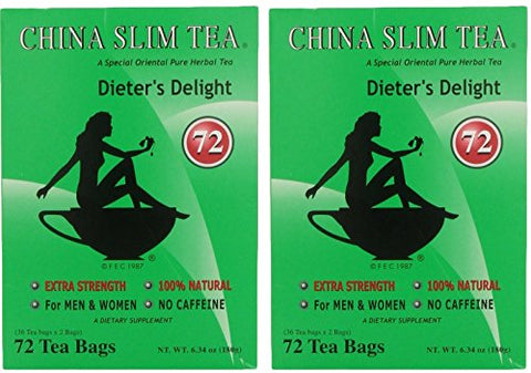 China Slim Dieter's Tea Delight, Large, 72-Count (Pack of 2, 144 tea bags total)