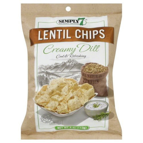 Simply 7 Lentil Chips Creamy Dill 4 OZ (Pack of 24) by Simply 7