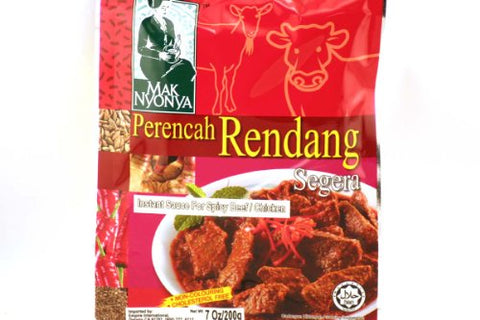 Perencah Rendang Segera (Spicy Beef/Chicken) - 7oz (Pack of 6)