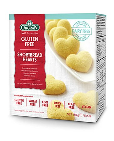 Orgran Shortbread Hearts, 5.2-Ounce Boxes (Pack of 7)