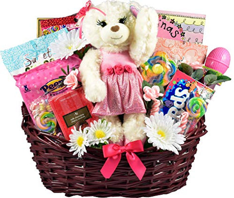 Beautiful Little Ballerina - Large Gourmet Easter Basket with Milk Chocolates, Belgian Truffles, Plush Bunny and more, 9 Pounds