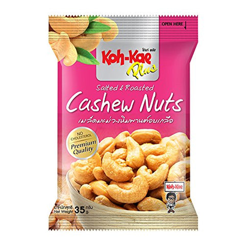 Koh-Kae, Plus, Salted & Roasted Cashew Nuts, 35 g [Pack of 4 pieces]