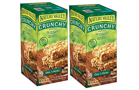Nature Valley Oats 'N Honey Granola Bars, 60 Bars (2 Boxes)