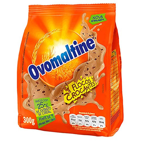Ovomaltine Crunchy Chocolate Powder 10.58 oz | Ovomaltine Chocolate em Flocos 300g