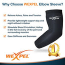 Image of Wexpel Copper Infused Compression Elbow Sleeve â?? Relieve And Heal Stiff, Strained, Sore And Aching