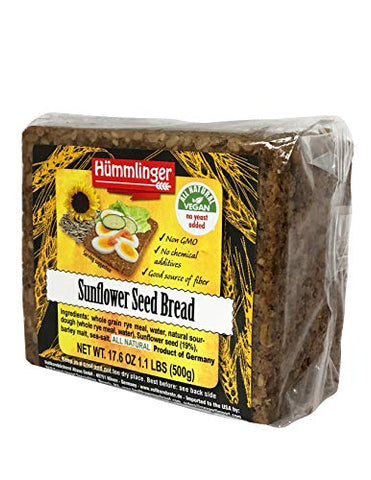 Sunflower Seed Bread Yeast Free Hummlinger, No Yeast Added (6 packages) NEW ITEM
