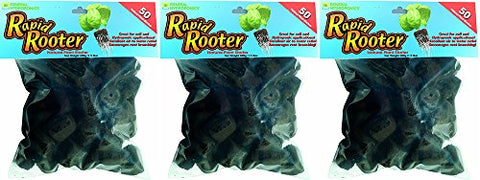 General Hydroponics Rapid Rooter Replacement Plugs HYaZWhM, 50 Count (3 Pack)