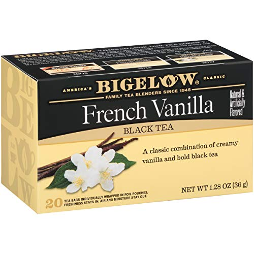 Bigelow French Vanilla  Black Tea 20 Count Boxes (Pack Of 6), Caffeinated 120 Tea Bags Total