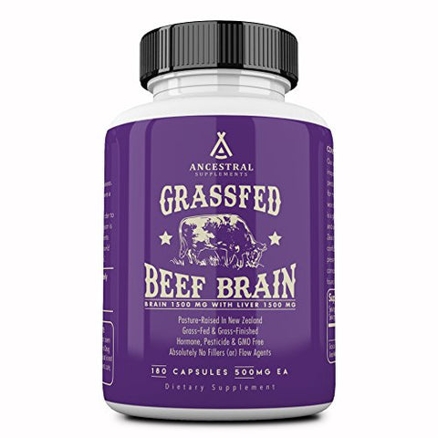 Ancestral Supplements Grass Fed Brain (With Liver) â?? Supports Brain, Mood, Memory Health (180 Caps