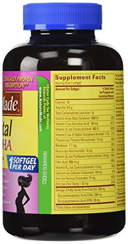 Nature Made Prenatal Multi + Dha, 200mg, 150 Softgels 2pack