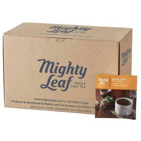 Ginger Twist - Mighty Leaf (100 Foil Wrapped Tea Pouches)
