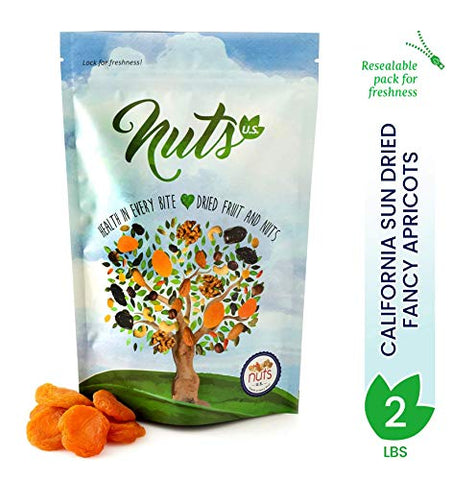 NUTS U.S. - California Sun Dried Fancy Apricots (2 LBS)