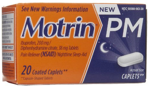 Motrin PM Pain Reliever/Nighttime Sleep-Aid Coated Caplets