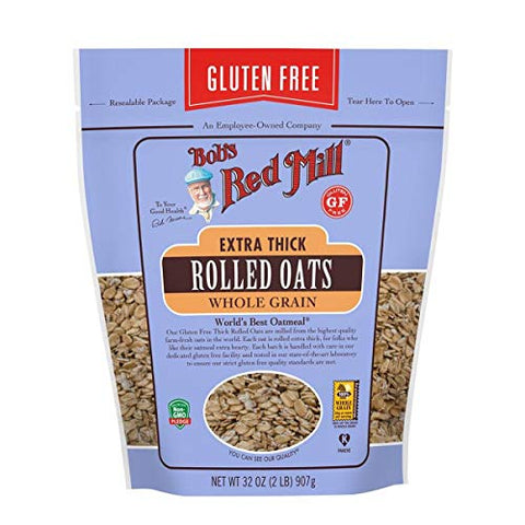 Bobs Red Mill Gluten Free Extra Thick Rolled Oats, 32 Ounce -- 4 per case.
