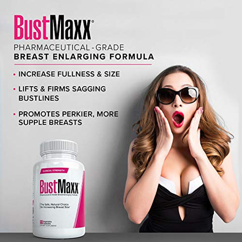 Bustmaxx (3 Bottles) Breast Enlargement, Bust Enhancement Pill. Natural Female Augmentation That Wor