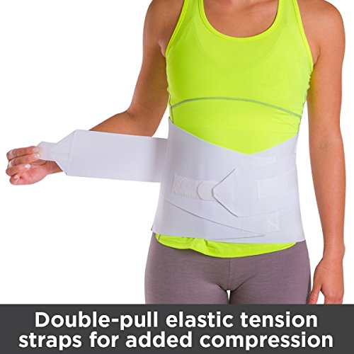 BraceAbility Women's Back Brace for Female Lower Back Pain Treatment & Lumbar Support (Large)