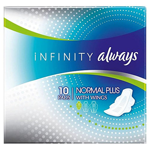 Always Infinity Sanitary Pads Normal Plus with Wings (10)