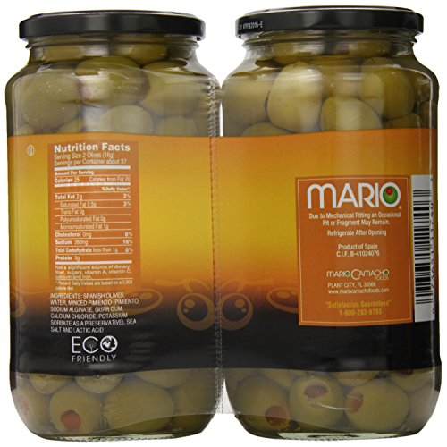Mario Stuffed Queen Olives, 42 Ounce