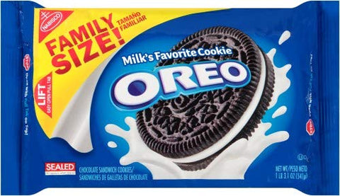 Oreo Chocolate Sandwich Cookies Family Size (Pack of 4)