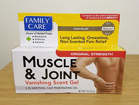 Muscle & Joint - Vanishing Scent Gel, 2 oz by Family Care