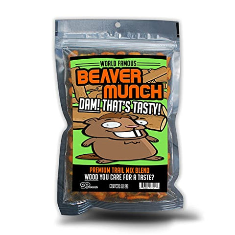 Beaver Munch Spicy Trail Mix  Healthy Gift Funny Trail Mix Gift Bag Resealable Funny Healthy Gifts Beaver Gifts Gag Gifts for Men Beaver Munch Trail Mix Spicy Gifts Funny Stocking Stuffers