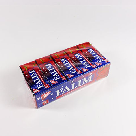Falim Sugarless Plain Gum, Strawberry Flavored, 100 Piece