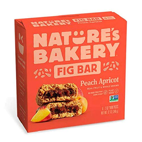 Nature's Bakery Whole Wheat Fig Bars - Peach Apricot - 6 ct