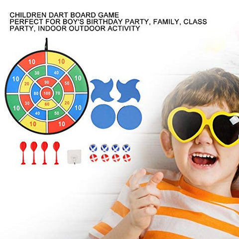 GLOGLOW Dart Board Game, 75cm Safe Classic Dartboard Set Excellent Indoor Game and Party Games for Children Kid(MY190018-3)