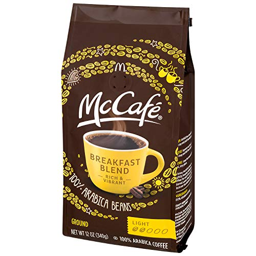 Mc Cafe Coffee Ground Coffee, Breakfast Blend Light Roast, 12 Ounce