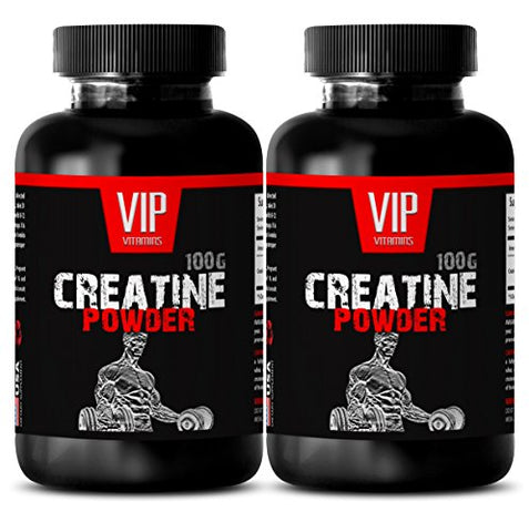 Pure Creatine - CREATINE MONOHYDRATE Powder 100g - Post Workout Supplement (2 Bottles)