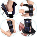 Image of Velpeau Ankle Brace - Stirrup Ankle Splint - Adjustable Rigid Stabilizer for Sprains, Strains, Post-Op Cast Support and Injury Protection (3-Dimensional Molded Pads, Large - Right Foot)