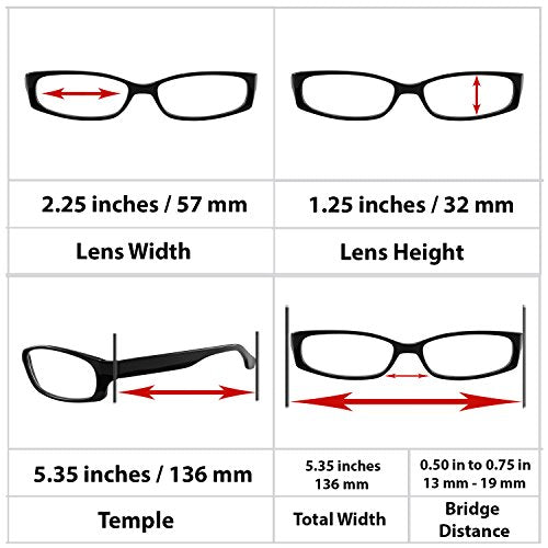 Reading Glasses 1.25 Single Black (1 Pair) F503 TruVision Readers