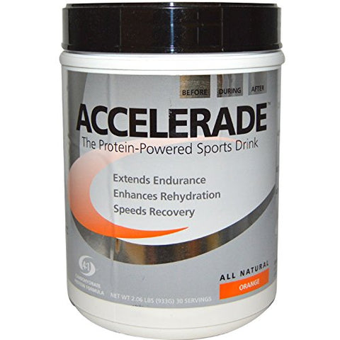 PacificHealth Labs Accelerade Sports Drink Tangy Orange 2.06 lbs Pwdr