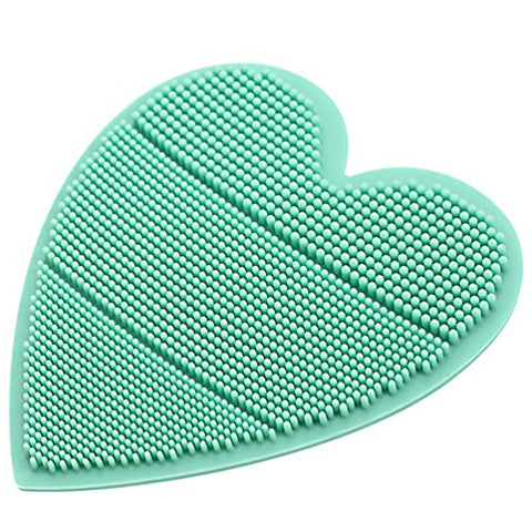 TOYANDONA Silicone Baby Bath Brush Heart Shaped Soft Cradle Cap Brush Babies Head Massage Tool (Green)