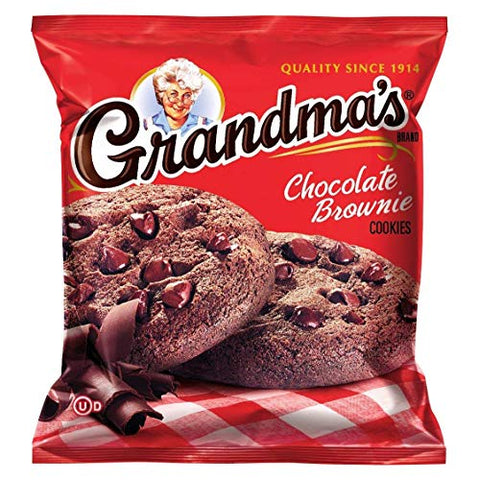 Grandma's Cookies Variety 2.5 Oz Packages Bundle of 40 Packs Includes : 10 x Chocolate Brownie, 10 x Chocolate Chip, 10 x Oatmeal Raisin & 10 x Peanut Butter (40 Count)