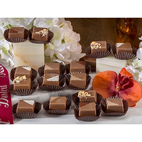 Dulcet's Chocolate Gift Box Assortment of 15 Milk Chocolates Gourmet Rich Decadent Chocolate Gift Box. Unique Chocolate Gift Idea! Great for Holidays, Birthdays, Sympathy, Thank You- For Men, Women, F