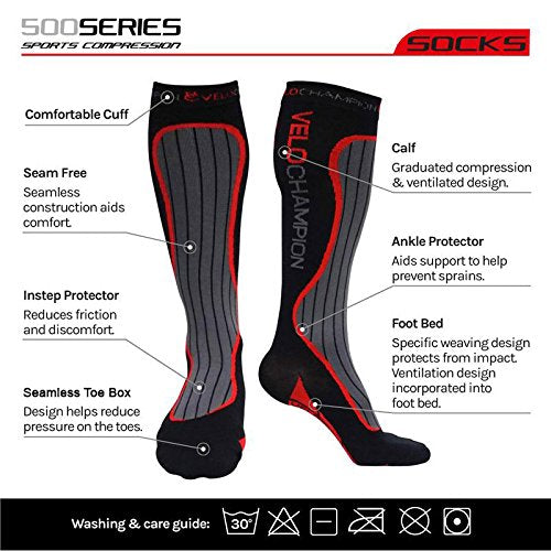 Recovery Compression Socks For Men & Women (20 30mmhg) Running Shin Splints, Dvt