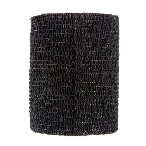 "Ever Ready First Aid Self Adherent Cohesive Bandages 3"" x 5 Yards - 12 Count, Black"