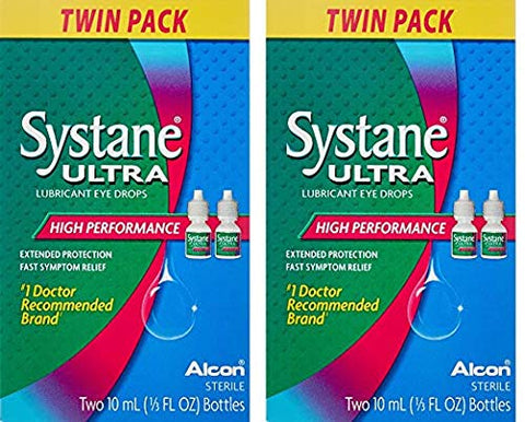 Systane Ultra Lubricant Eye Drops .33 fl oz (10 ml) - Bottle (Pack of 4)