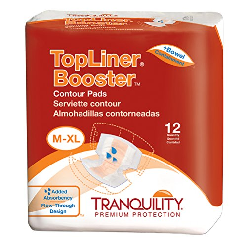 Tranquility Top Linerâ® Disposable Absorbent Booster Contour Pads For Bowel Incontinence   Contour (2
