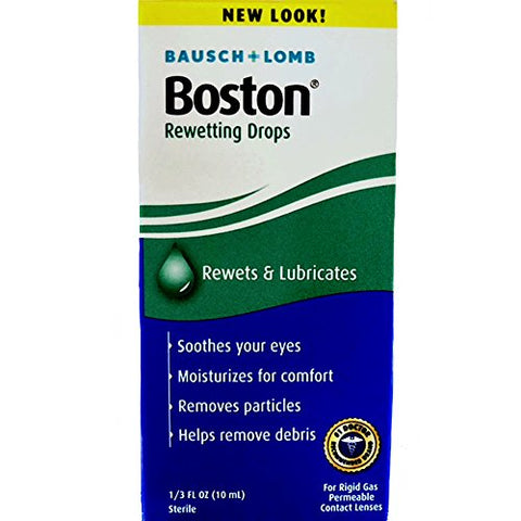 Bausch & Lomb Boston Rewetting Drops 10 mL (Pack of 2)
