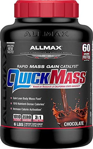 Allmax Nutrition Quick Mass, Rapid Mass Gain Catalyst, Chocolate, 6 Lbs (2.72 Kg)