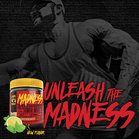 Mutant Madness - Redefines the Pre-Workout Experience and Takes it to a Whole New Extreme Level, Engineered Exclusively for High Intensity Workouts, 225g  Pineapple Passion