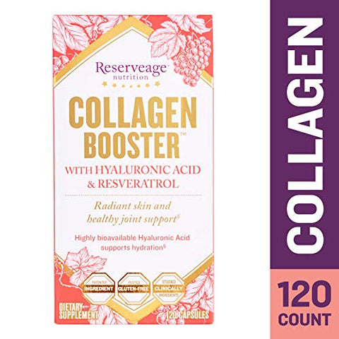Reserveage, Collagen Booster, Skin And Joint Supplement, Supports Healthy Collagen Production, 120 C